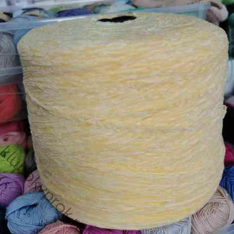 Велюр бобинный 225м/50гр 4507, Нежный желтый
