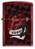 Зажигалка Zippo Дьяволица, латунь с покрытием Candy Apple Red, красная, глянцевая, 36x12x56 мм
