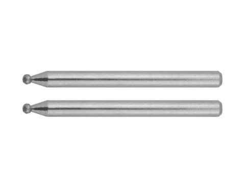 Мини-шарошки ЗУБР алмазные, d 2,0x3,2мм, длина 38мм, 2шт
