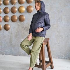 Куртка для беременных теплая зима/демисезон 2 в 1 цвет темно-синий