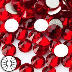 Стразы холодной фиксации клеевые стеклянные Siam Сиам темно-красный на StrazOK.ru
