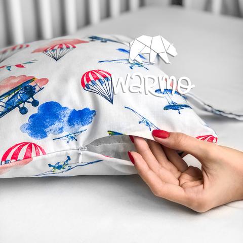 Набір бортиків-подушок в ліжечко 30x30см ЛІТАКИ