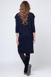 Платье для беременных и кормящих 09142 синий