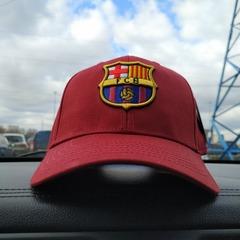 Кепка Барселона красная (Бейсболка Barcelona)