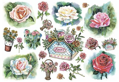 Рисовая бумага для декупажа Цветы, А3