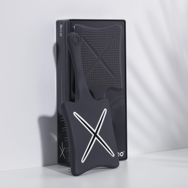 ikoo paddle X beluga black (classic) | лопатка  браш-детанглер (Черная белуга)