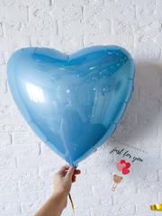 шар сердце голубое