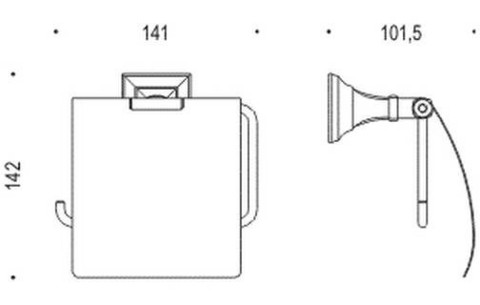 Полотенцедержатель-кольцо Colombo Portofino  B3231, хром схема