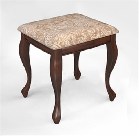 Банкетка-пуф Дионис деревянная с мягким сидением темный орех