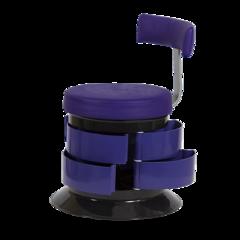 Пуфик со спинкой GiroCo Armando black фиолетовый