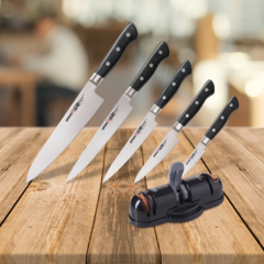 Набор из 5 ножей Samura PRO-S и точилки KSS-3000
