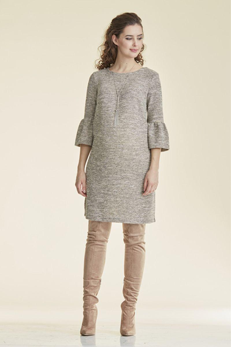 Фото платье для беременных Mama i Ja от магазина СкороМама, серо-бежевый, размеры.
