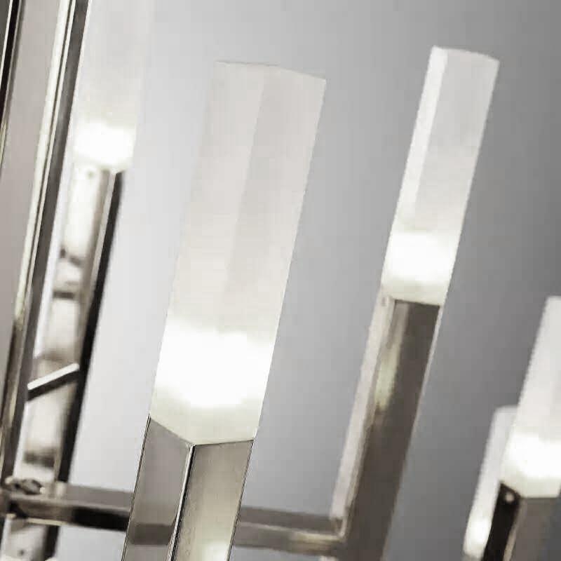 Подвесной светильник копия THE LIGHT by Alma 12 плафонов (никель)