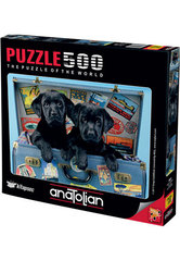 Puzzle Gezgin Köpekler. Travel Labs 500 pcs