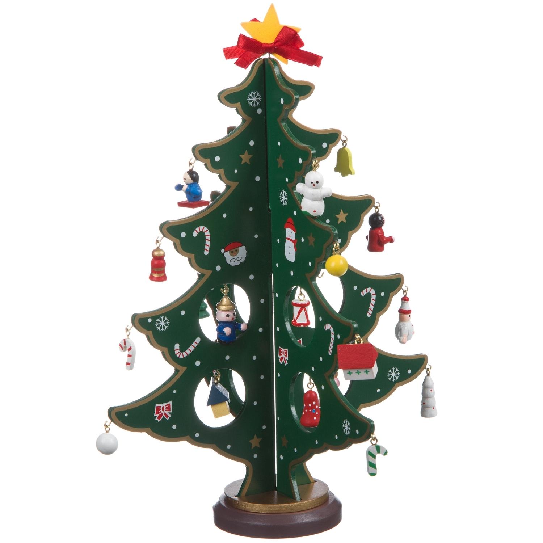 Новогодний набор BONDIBON Деревянная ёлочка 3D с игрушками, высота 29см