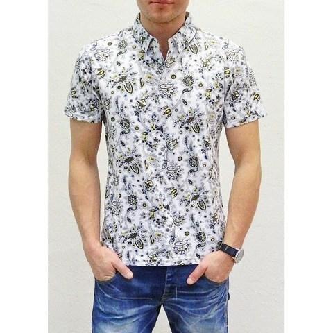 Мужская футболка ETRO белая в цветок