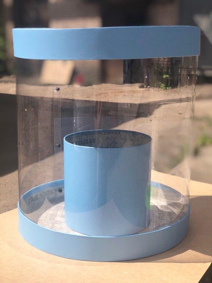 Коробка аквариум 32см Цвет :Голубой . Розница 600  рублей .
