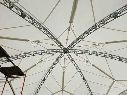 Арочный шатер гексагональ 15х13