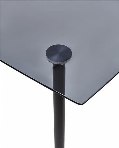 Стол RONDO 120 дымчатый М-City (обеденный, кухонный, для гостиной), Материал каркаса: Металл, Цвет каркаса: Серый, Материал столешницы: Стекло закаленное, Цвет столешницы: Серый дымчатый, Цвет: Серый