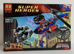 Супер Герои Super Heroes 10240 Спасательный вертолёт Человека-паука,298дет Конструктор