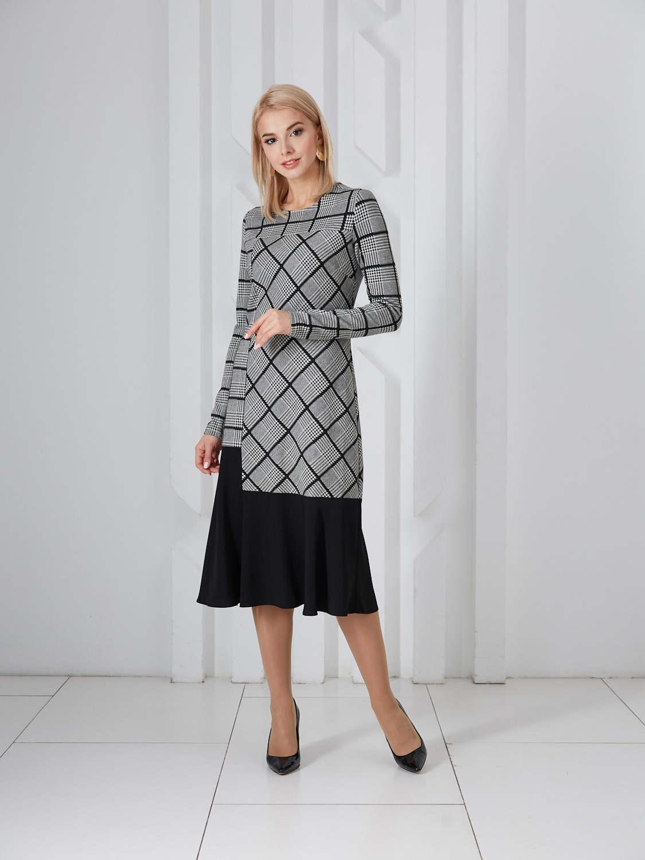 Платье plt-51703f/экрю-черный