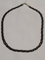 Коса с чернением по краю(серебряная цепочка)