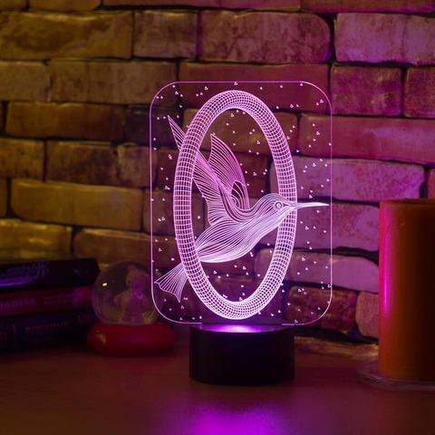 3D светильник Колибри и кольцо