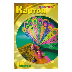 Картон цветной Мультики (А4, 16 листов, 8 цветов, мелованный)