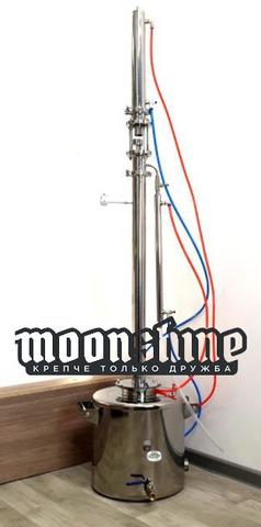 Ректификационная колонна Moonshine Expert  кламп 2 с баком 90 литров
