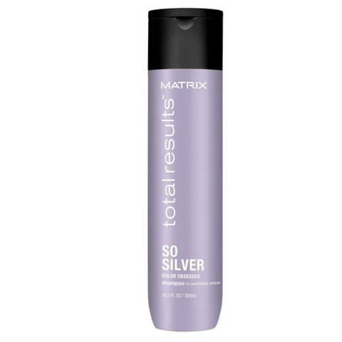 Matrix Total Results So Silver: Шампунь для нейтрализации желтизны (So Silver Shampoo), 300мл/1л