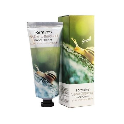 Крем для рук с муцином улитки  FarmStay Visible Difference Snail Hand Cream