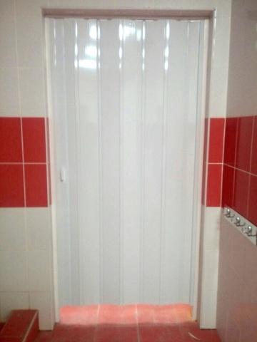 Дверь гармошка, цвет белый