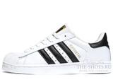 Кроссовки Мужские Adidas SuperStar White Black