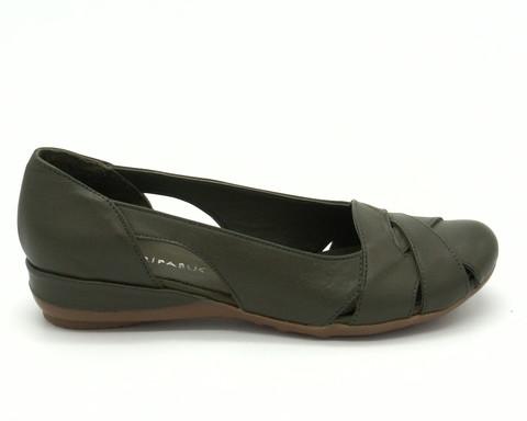 Туфли зеленые открытые на платформе