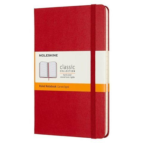 Блокнот Moleskine CLASSIC QP050F2 Medium 115x180мм 240стр. линейка твердая обложка красный