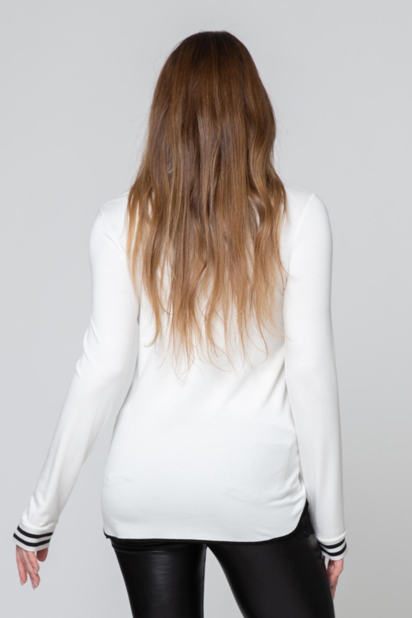 Джемпер для беременных 09086 кремовый