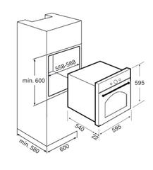 Встраиваемый духовой шкаф TEKA HR 750 BK схема встраивания