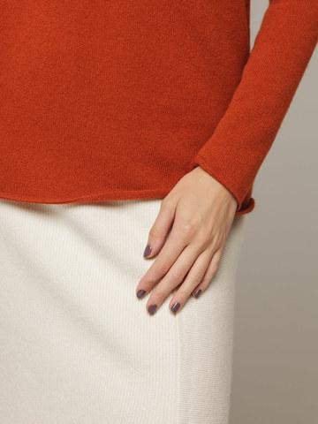 Женский красный джемпер с высоким горлом из 100% кашемира - фото 2