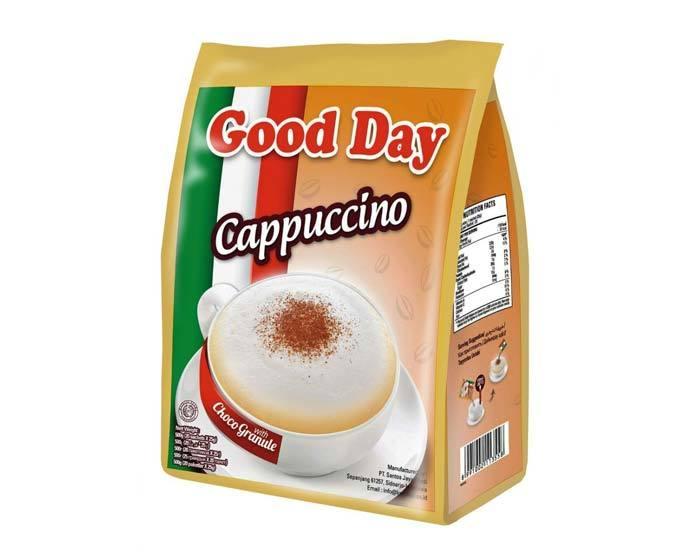 Кофе растворимый Good Day Cappuccino с сахаром и шоколадной крошкой
