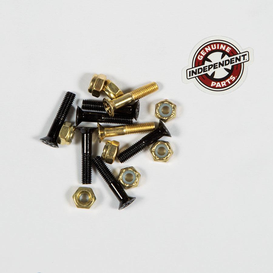 Болты для скейтборда INDEPENDENT Phillips Hardware (Black/Gold)