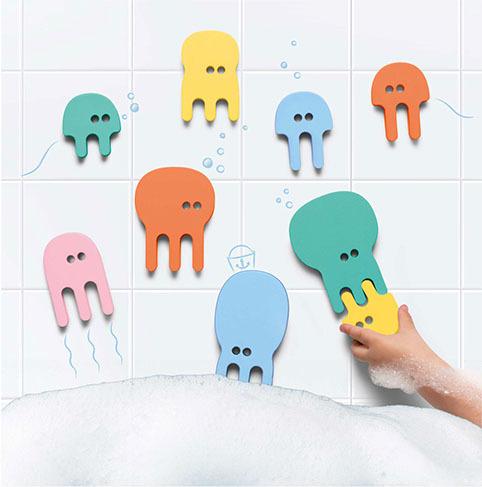 Мягкий 2D пазл для игры в ванне Quutopia. Медузы (Jellyfish), 10 эл.