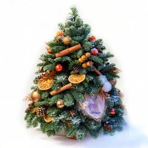 Фотография Елочка оранжевая 40 см купить в магазине Афлора