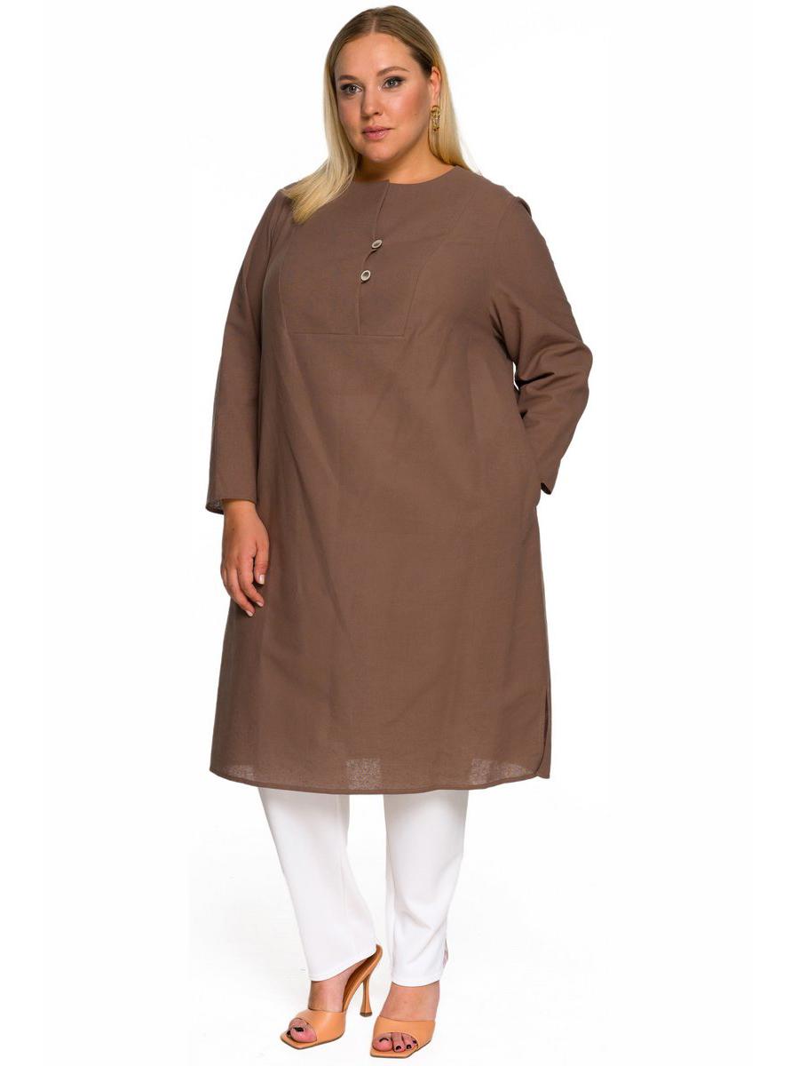 Платье-туника из льна