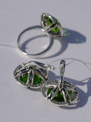 Вилена (кольцо + серьги из серебра)