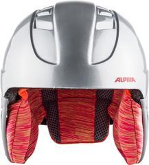 Шлем горнолыжный Alpina CARAT silver-flamingo - 2
