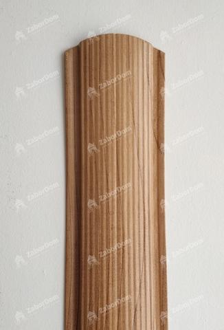 Евроштакетник металлический 110 мм Светлое дерево фигурный 0.5 мм