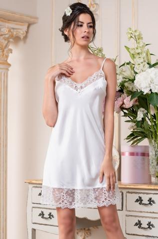 Короткая шелковая ночная сорочка (70% нат.шелк)