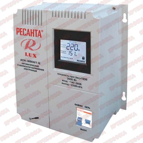 Стабилизатор АСН-3 000Н/1-Ц Lux Ресанта в интернет-магазине ЯрТехника