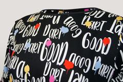 Платье Tessу 6870 макси отрезное надписи к/р