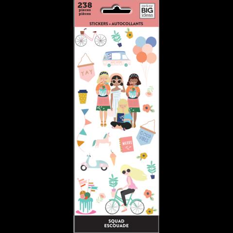 Блокнот со стикерами- Petite Sticker Sheets- Squad- 238 шт